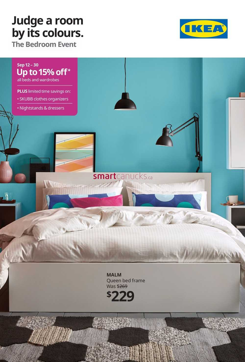 Ikea The Bedroom Event Flyer September 4 to 4