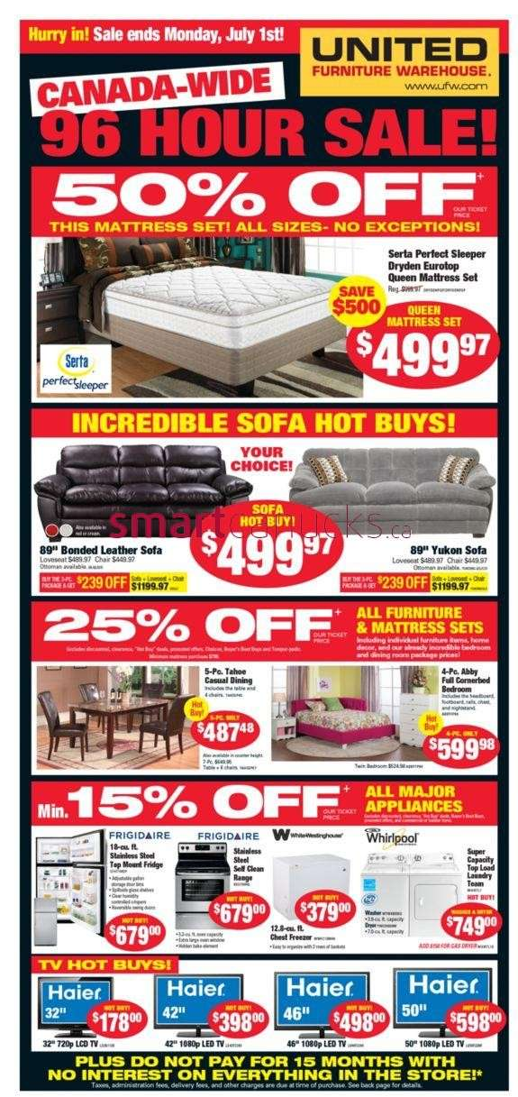 United Furniture Warehouse United Furniture Warehouse Flyer Jun 27 To
