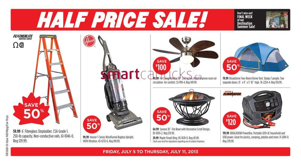 Canadian Tire flyer Jul 5 to 11