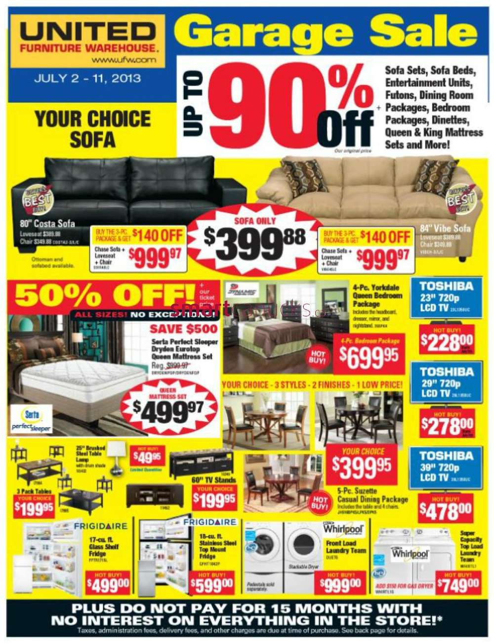 United Furniture Warehouse Flyer July 2 To 11