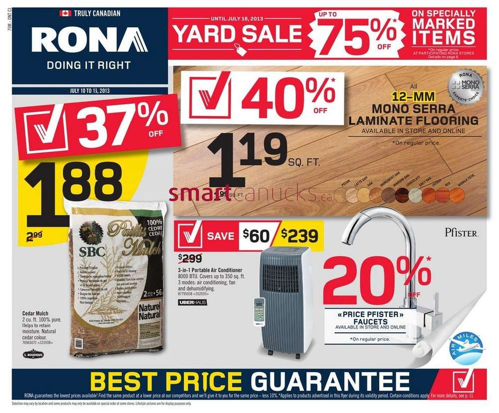 rona flyer july 10 to 16