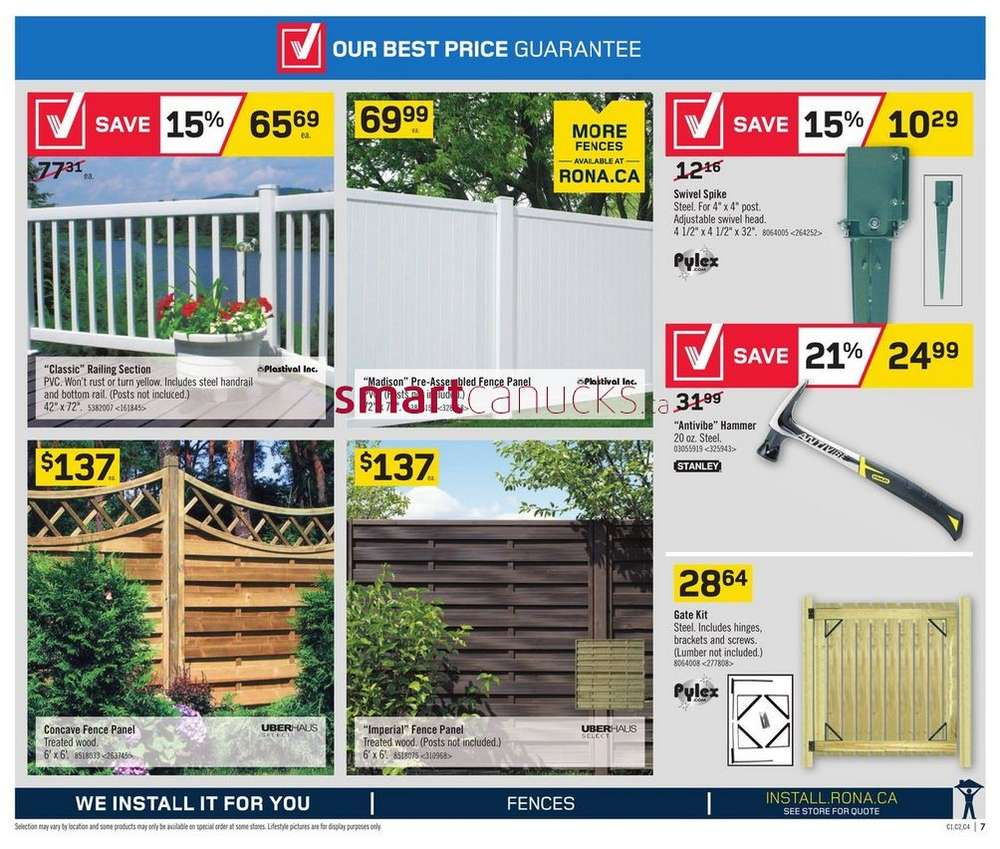 Rona flyer july 10 to 16 simplified view baanklon Images