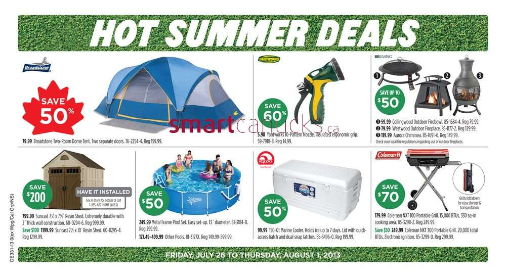 Canadian Tire flyer July 26 to August 1.  sc 1 st  Canadian Flyers - Smart Canucks & Canadian Tire flyer July 26 to August 1