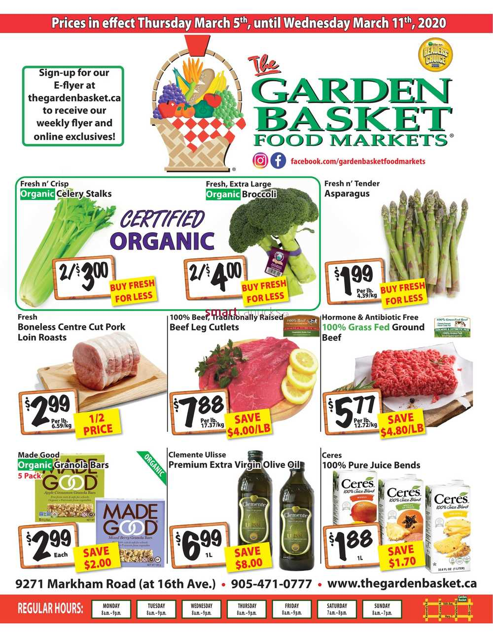 the garden basket flyer march 5 to 11