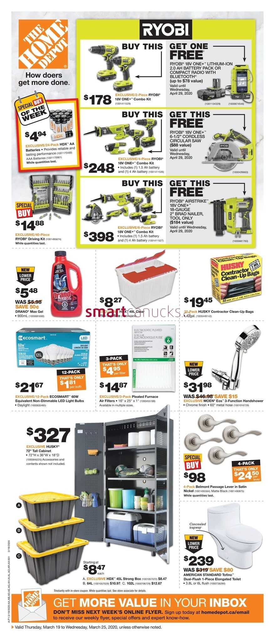 Home Depot On Flyer March 19 To 25