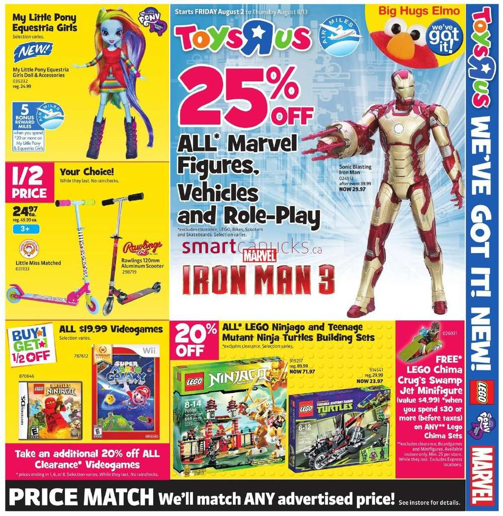 R Flyers Toys R Us flyer August...