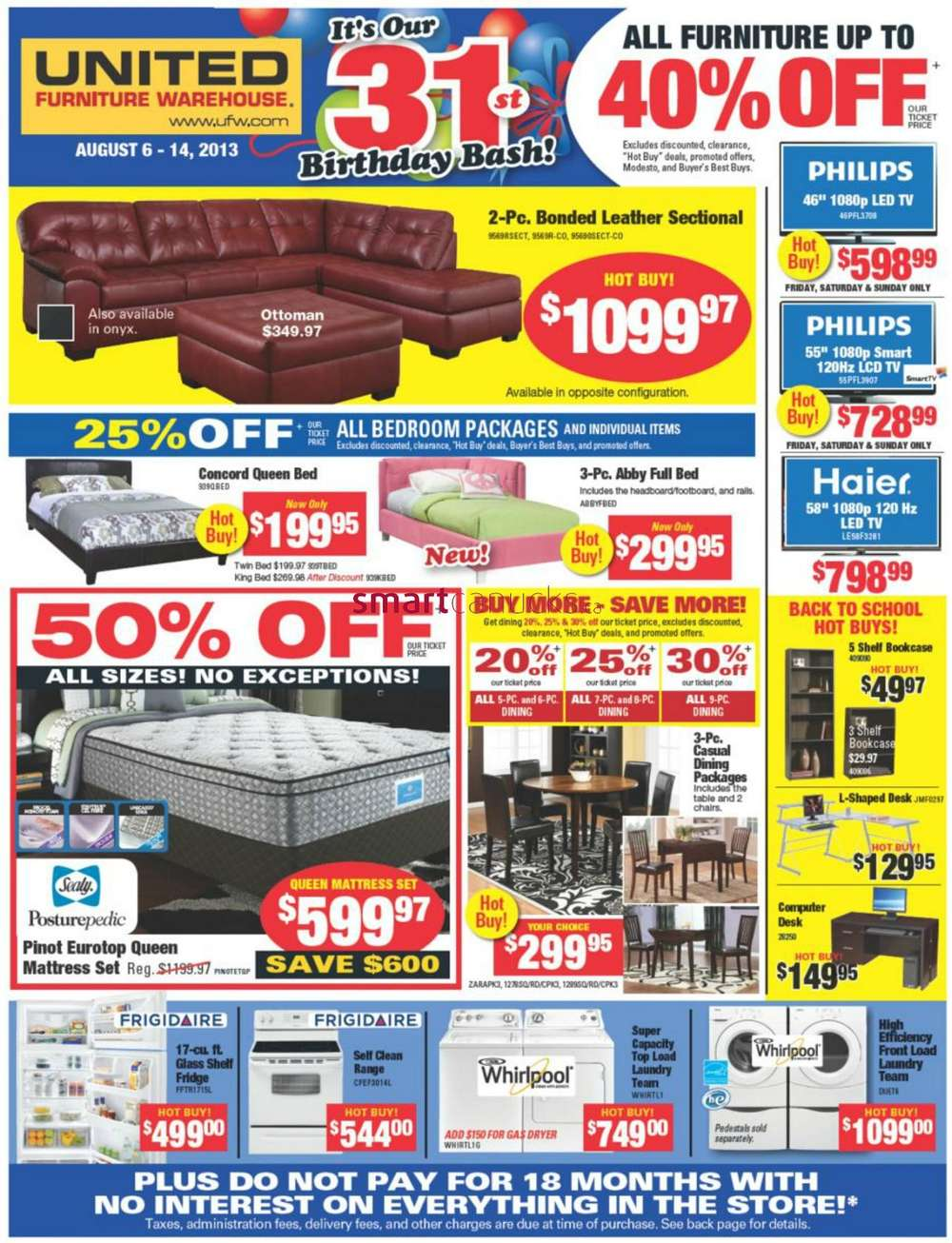 United Furniture Warehouse Flyer August 6 To 14