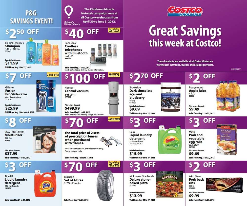 Costco Weekly Specials for Eastern Canada May 21 to 27