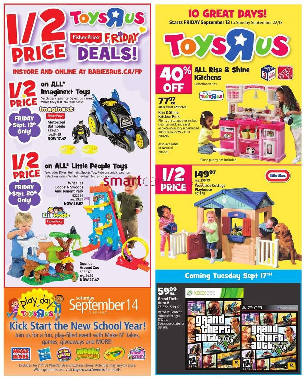 R Flyers Toys R Us flyer Septem...