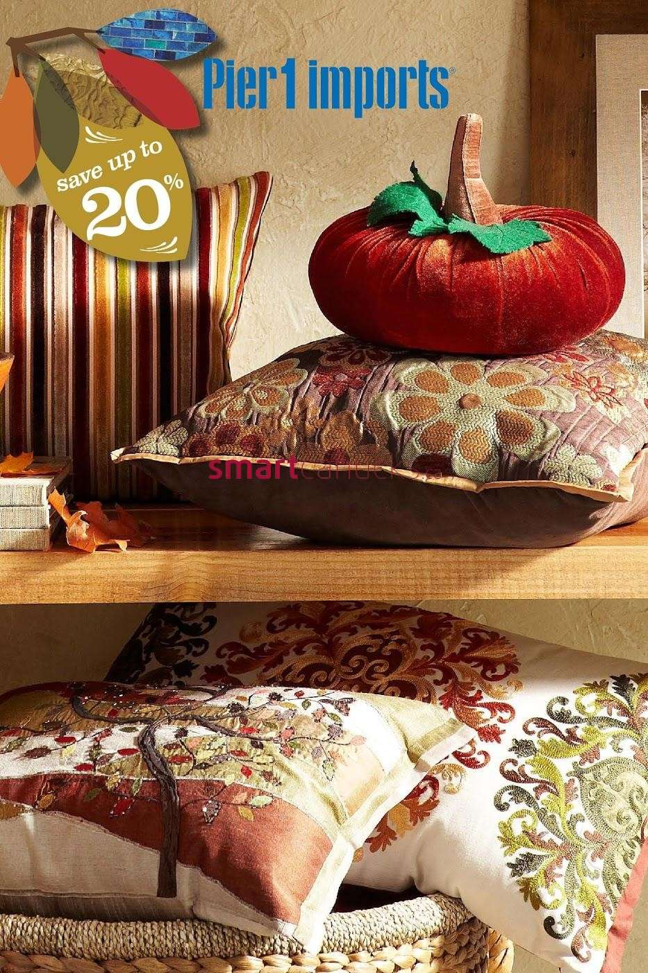 Pier 1 Imports flyer October 7 to November 3. Pier 1 Imports Canada Flyers