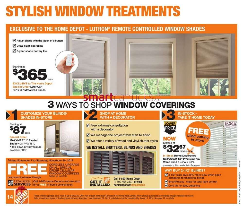 Home depot flyer november 7 to 13 for 7 home depot