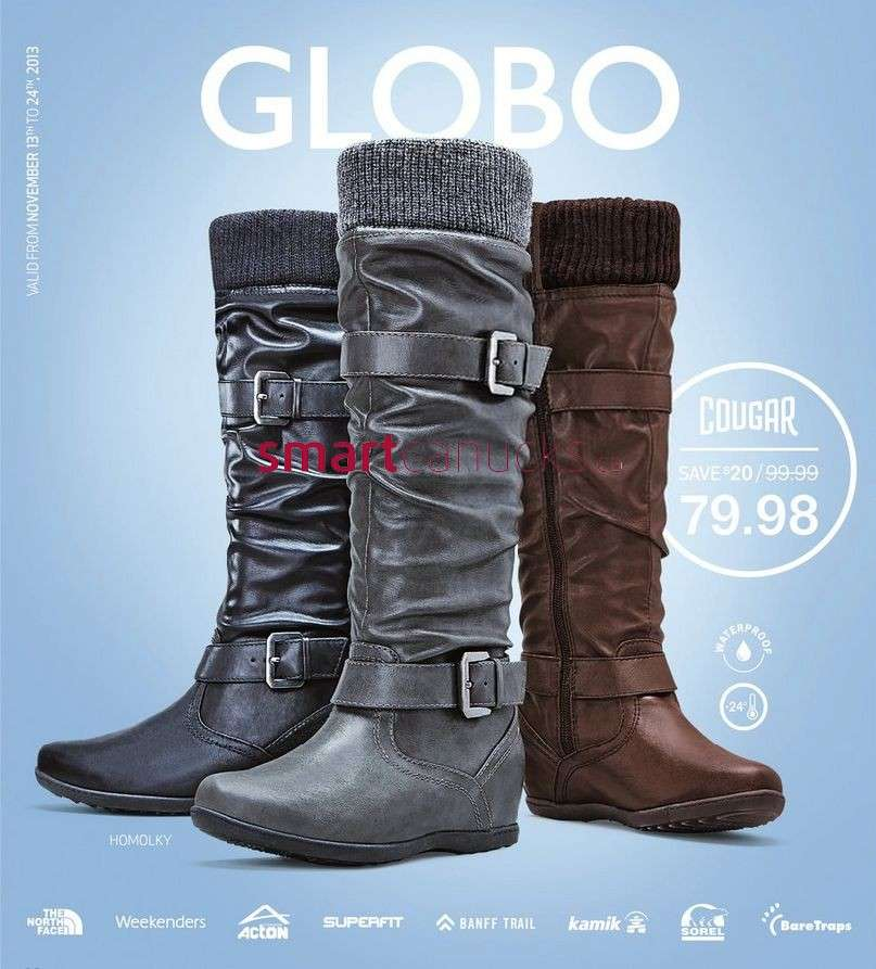 Globo Shoes flyer November 13 to 23
