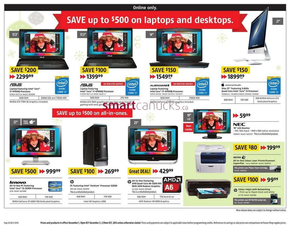 future shop cyber monday online flyer december 1 to 3. Black Bedroom Furniture Sets. Home Design Ideas