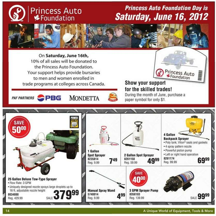 Coupons for Stores Related to princessauto.com