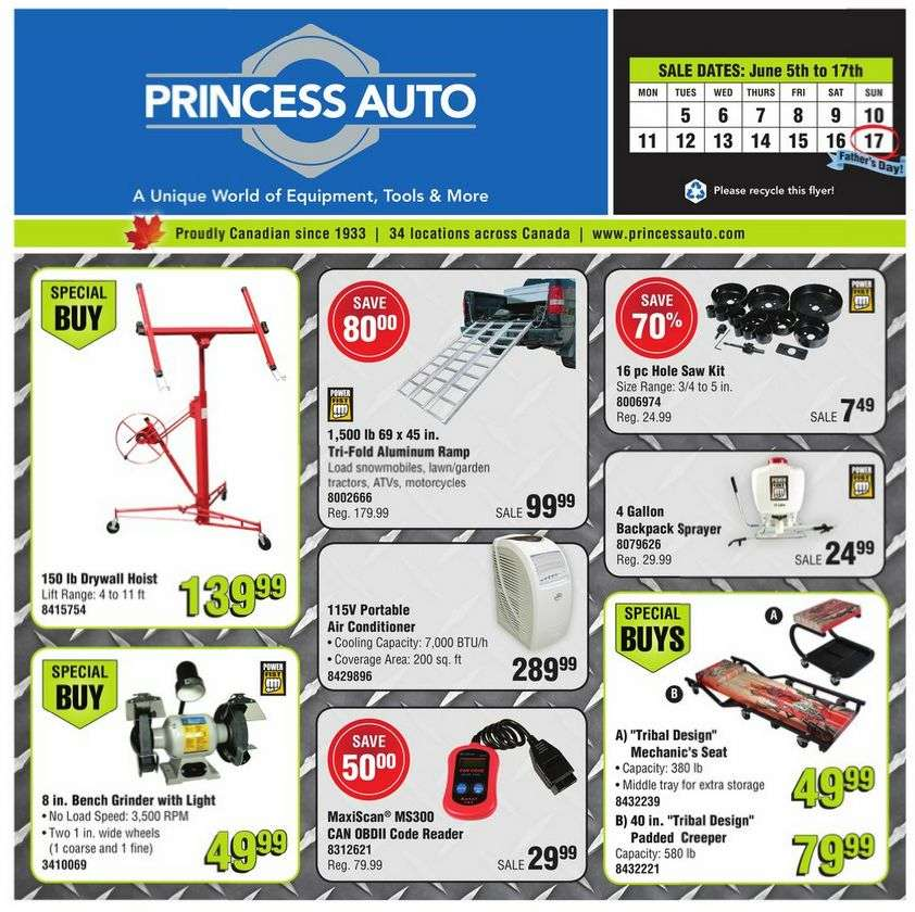 Find the best deals and accessories for your auto parts in Princess Auto. Princess Auto is an online retail shop selling auto parts to consumers all over the globe. Headquartered in Winnipeg, Manitoba, the company has grown from one to 43 stores nationwide.