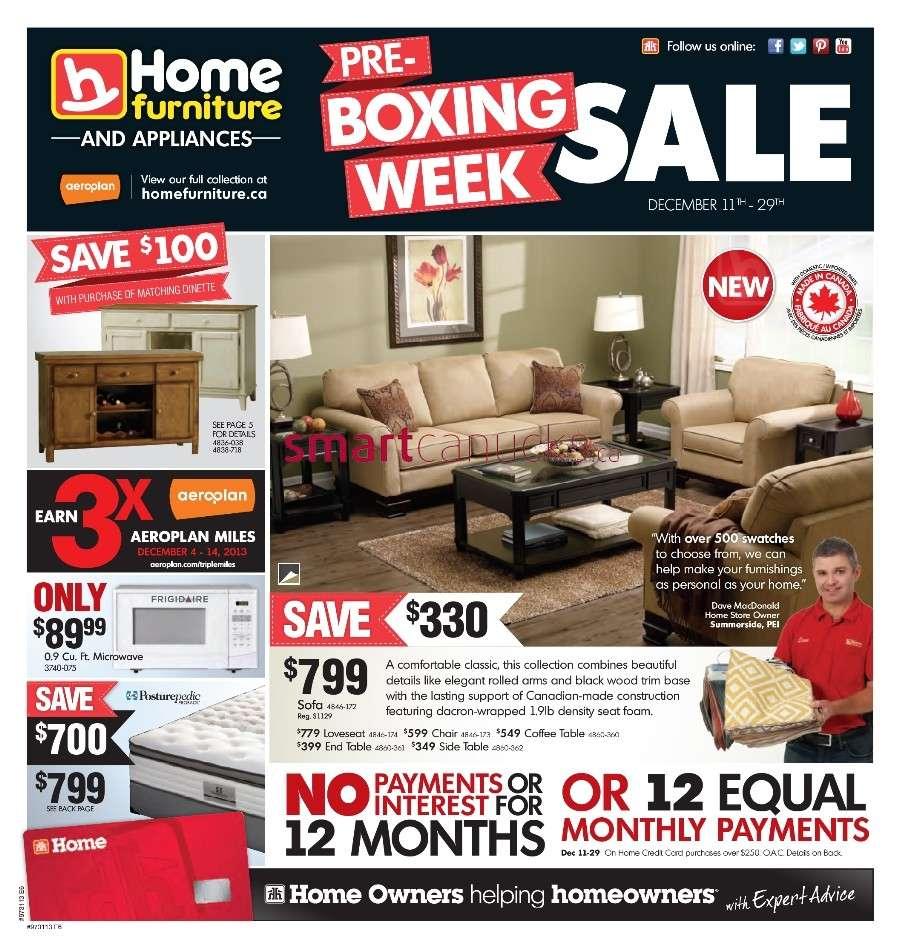 Home Furniture Flyer December 11 To 29