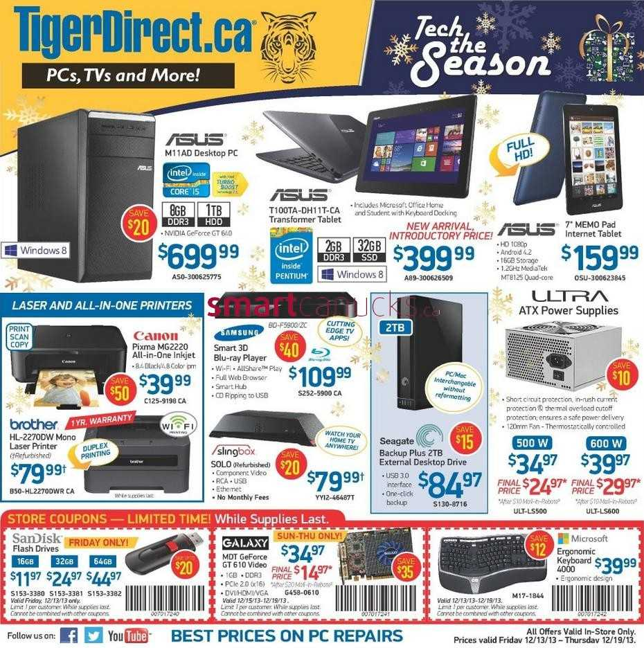 TigerDirect Black Friday Deals Don't miss out on upcoming Black Friday discounts, deals, promo codes, and coupons from TigerDirect! Here you'll find the official sale plus all .