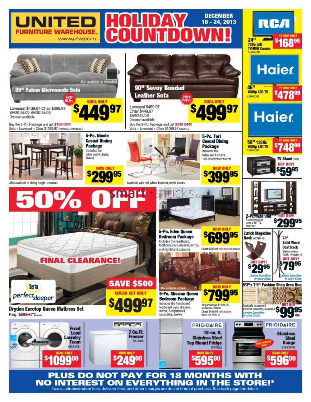United Furniture Warehouse United Furniture Warehouse Flyer December