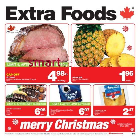 Extra Foods flyer December 20 to 26