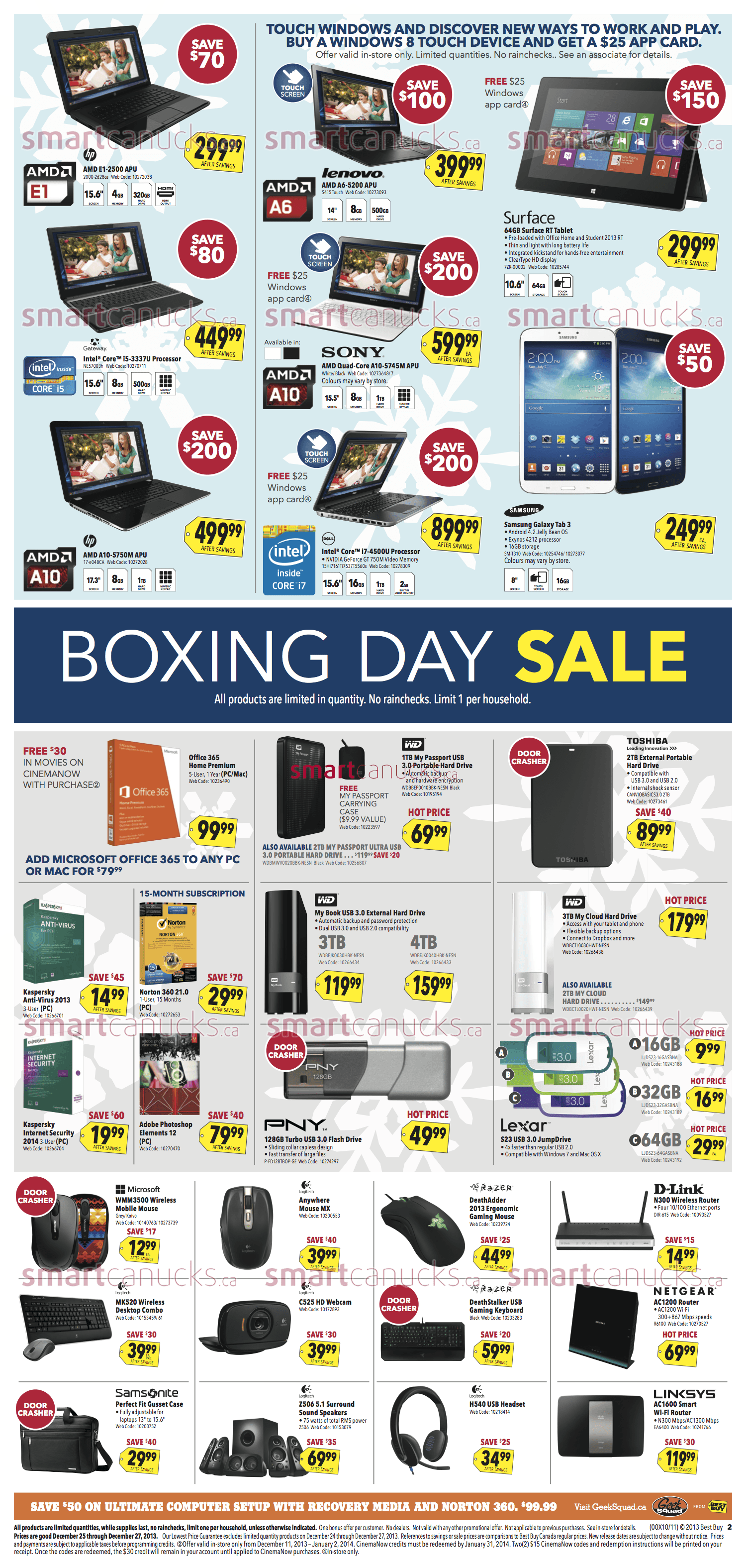 Best Buy Canada Boxing Day Flyer 2013