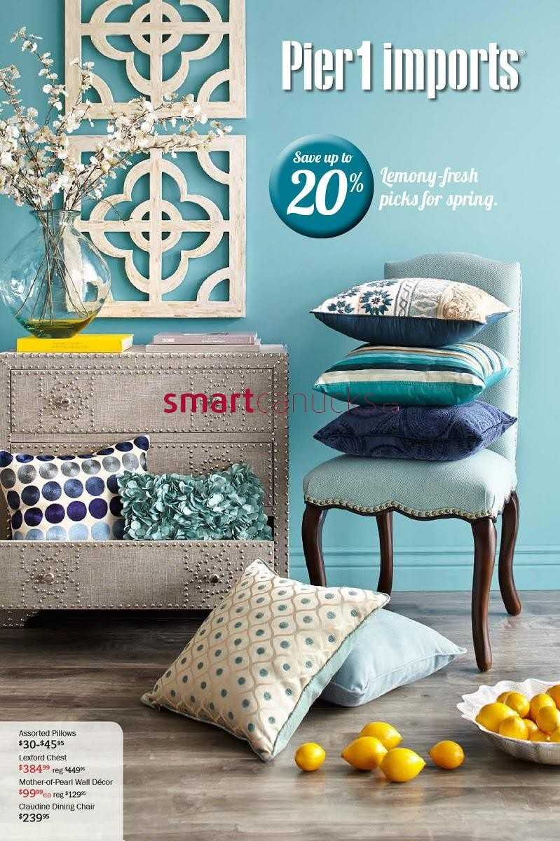 Pier 1 Imports flyer January 2 to February 2. Pier 1 Imports Canada Flyers