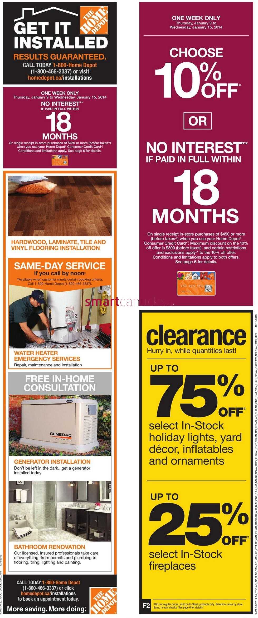 Home depot coupons canada 2018