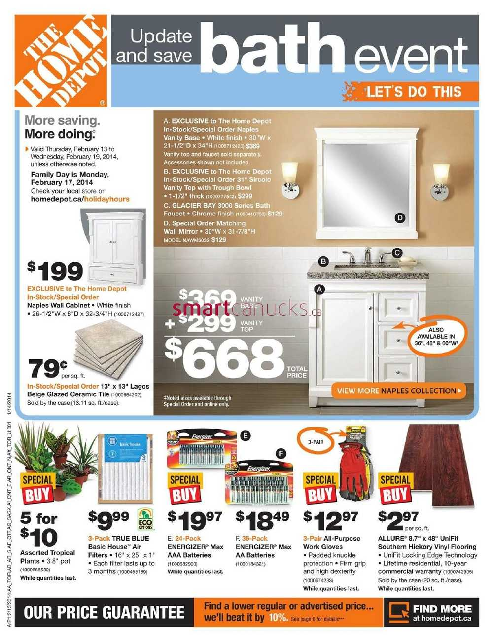 Home depot canada flyers for 1 home depot