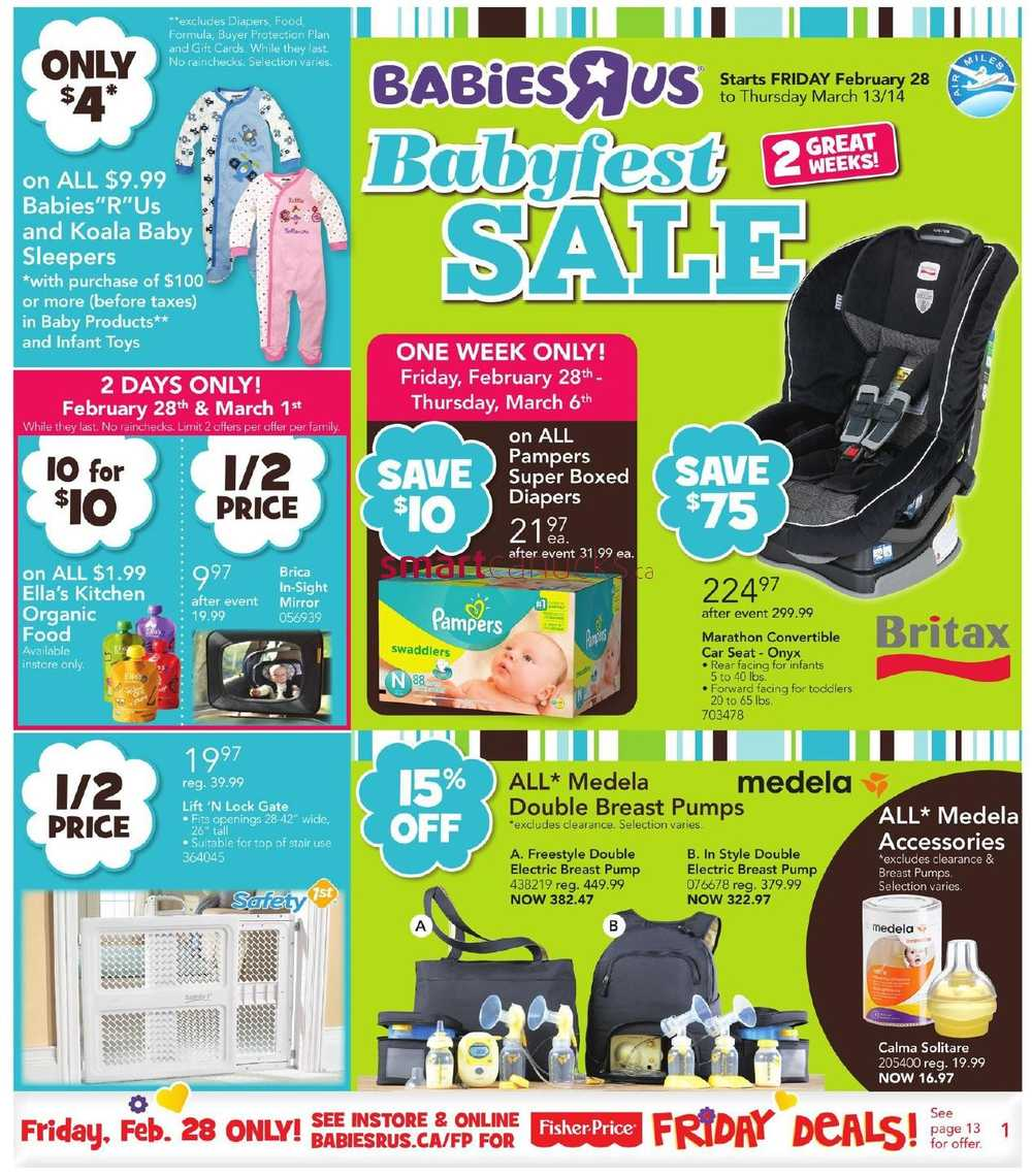 Babies R Us Babyfest Sale Flyer February 28 To March 13