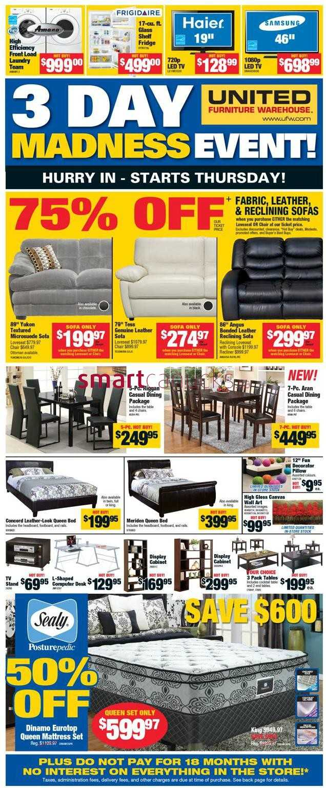 United Furniture Warehouse United Furniture Warehouse Flyer April 3 To