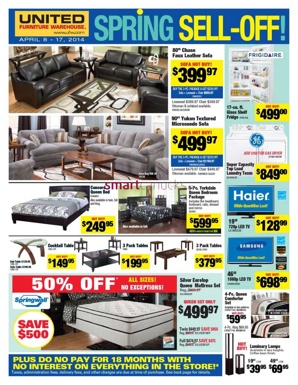 United Furniture Warehouse Flyer April 8 To 17