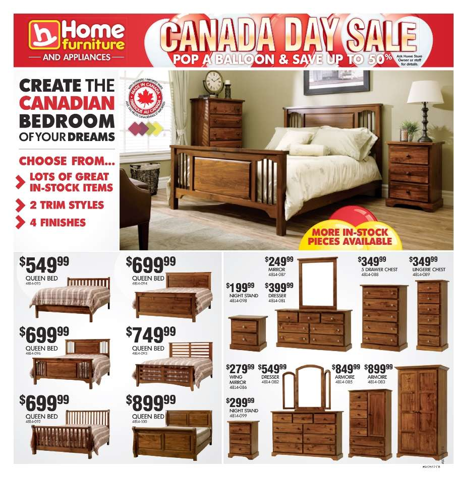 Home furniture flyer jun 20 to jul 1 for P s furniture flyer