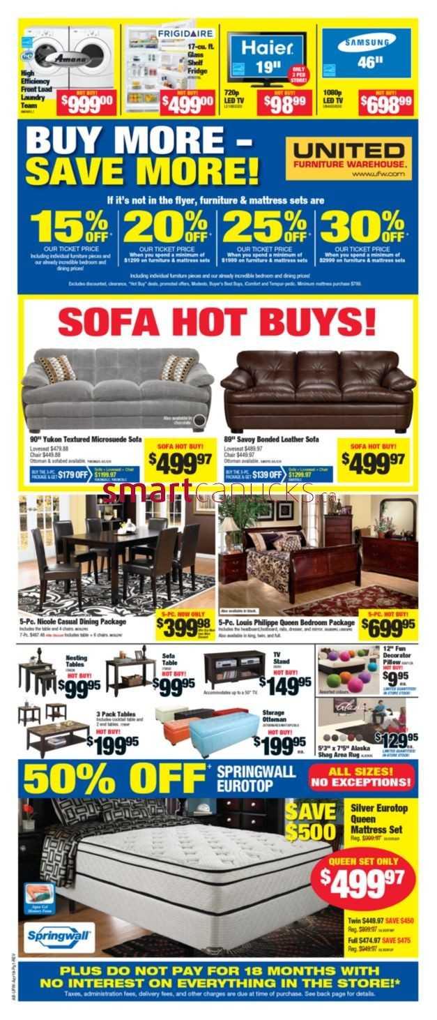 United Furniture Warehouse United Furniture Warehouse Flyer April 18