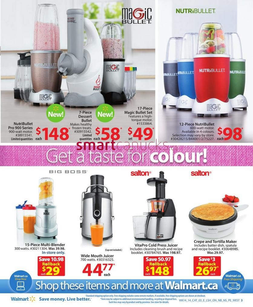 Walmart Kitchen Appliances Catalogue May 2 to 15
