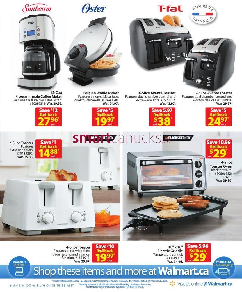 walmart canada kitchen appliance catalogue flyers friday may 2 to thursday may 15 2014