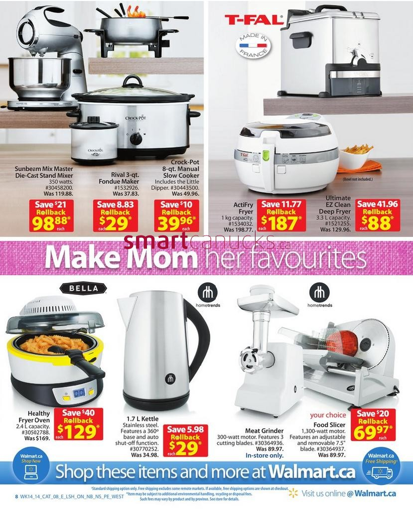 walmart kitchen appliances catalogue may 2 to 15 - Walmart Kitchen Appliances