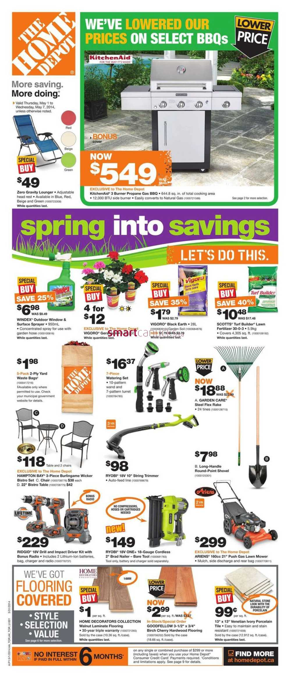 Home depot on flyer may 1 to 7 for 7 home depot