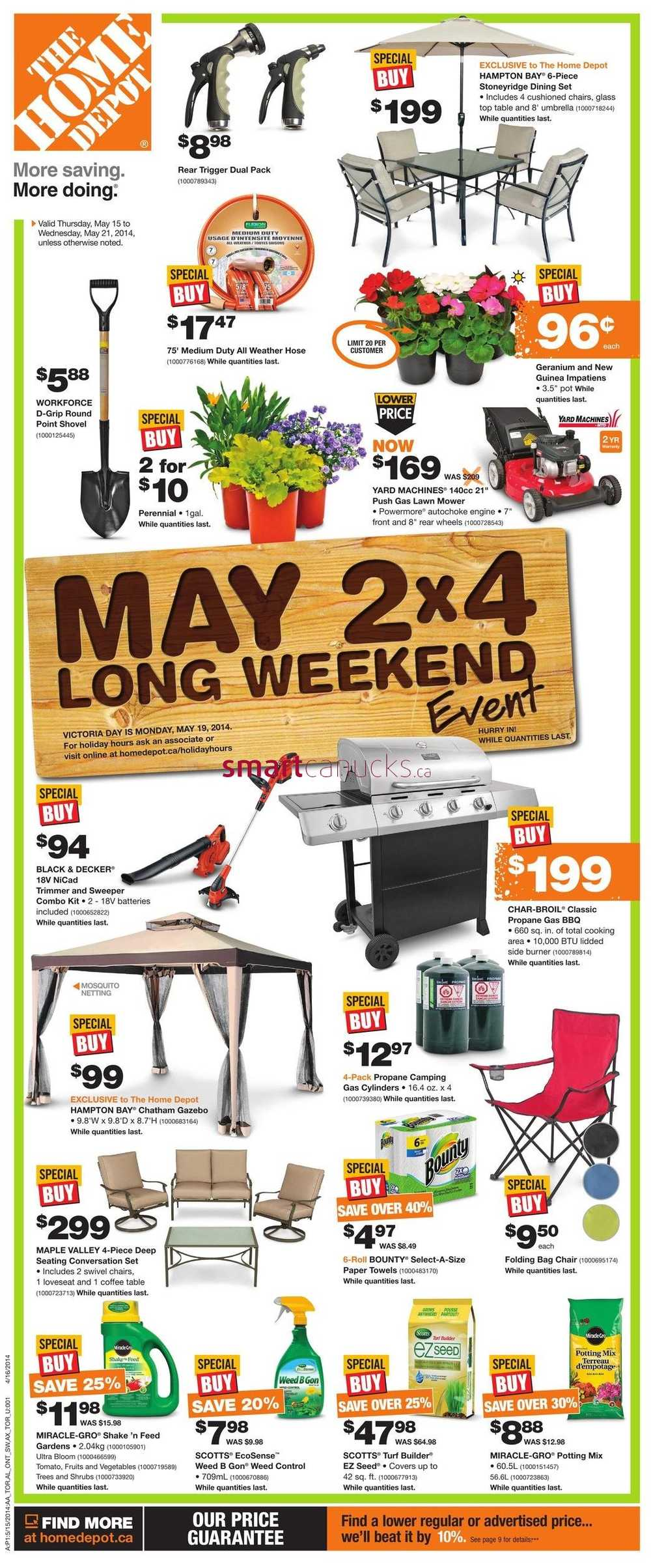Current Home Depot Coupon Home depot (on) flyer may 15