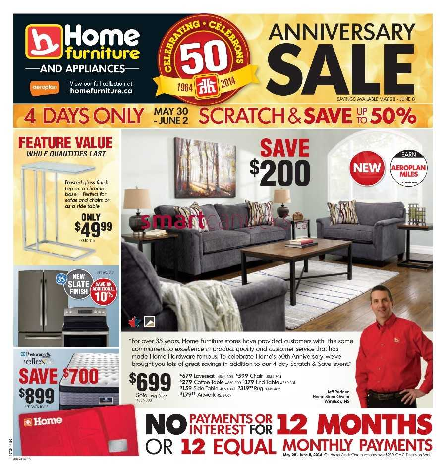 Home Furniture flyer May 28 to June 8. Home Furniture Canada Flyers