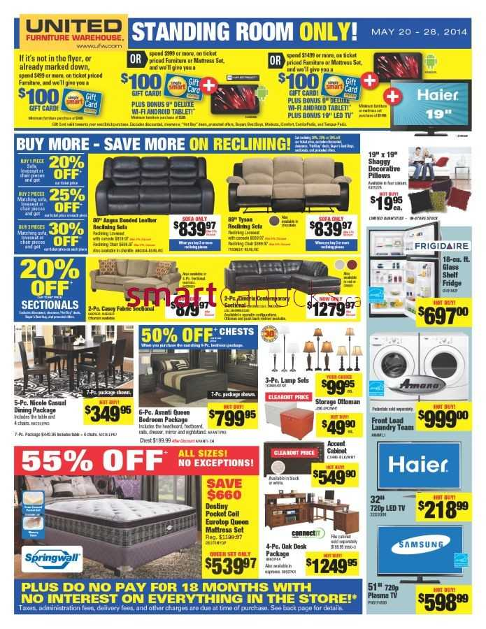 United Furniture Warehouse United Furniture Warehouse Flyer May 20 To