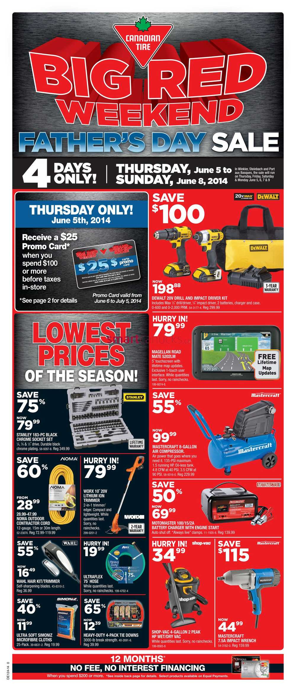 Canadian Tire Father's Day Sale flyer June 5 to 8. BLUE PLANET STORAGE BOXES: $ ; FOLDING CHAIR: $ ; MINI 8