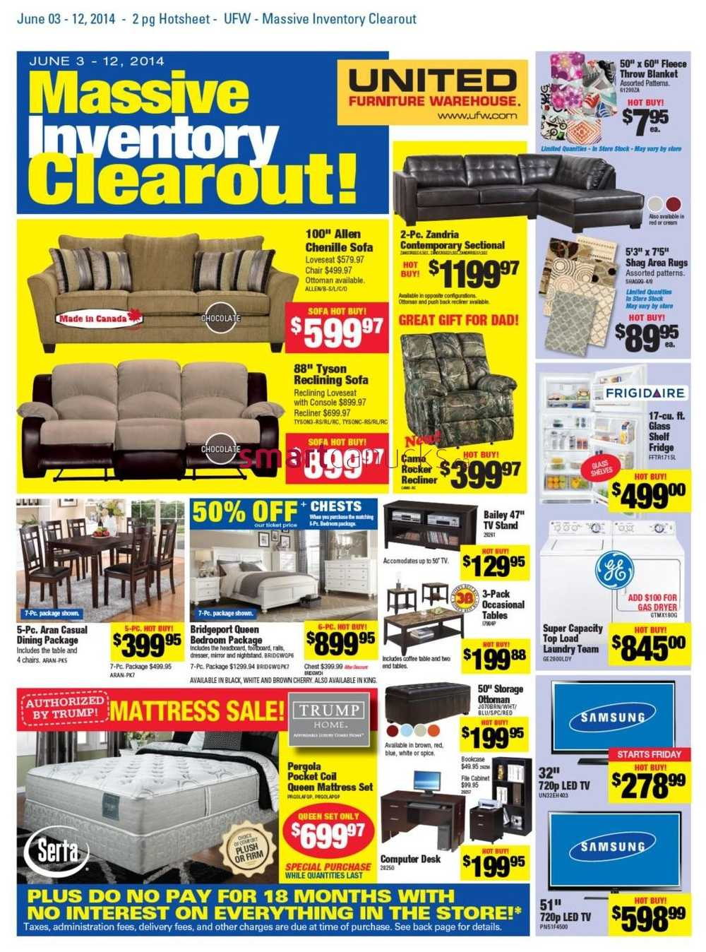 United Furniture Warehouse Flyer June 3 To 12