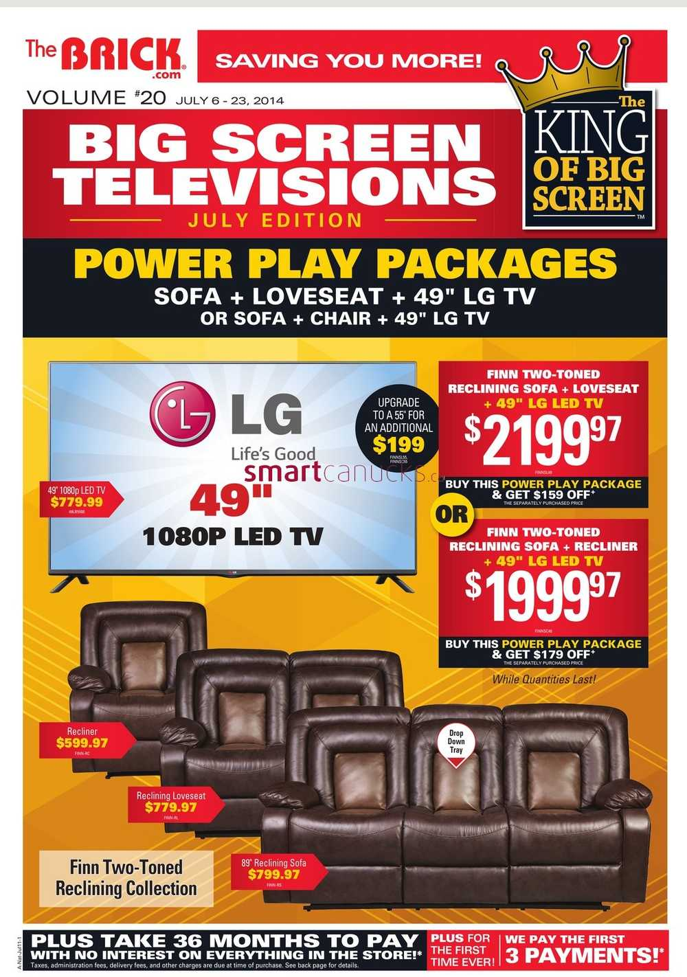 The brick canada tv deals