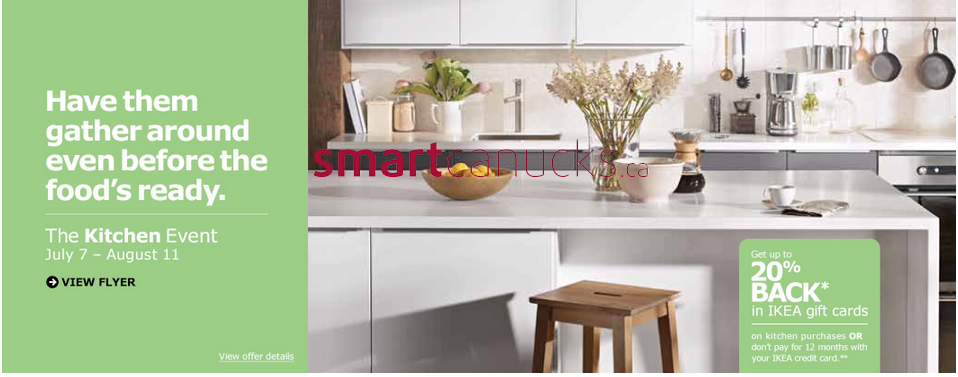 Attractive Kitchen Design U003e Ikea Kitchen Event Flyer July 7 To August 11 # Ikea  Kitchen Financing 2014