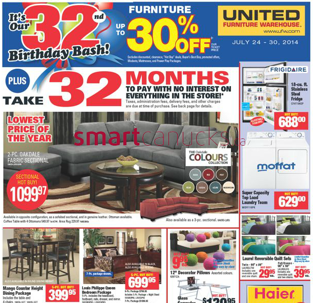 United Furniture Warehouse Flyer August 5 To August 14