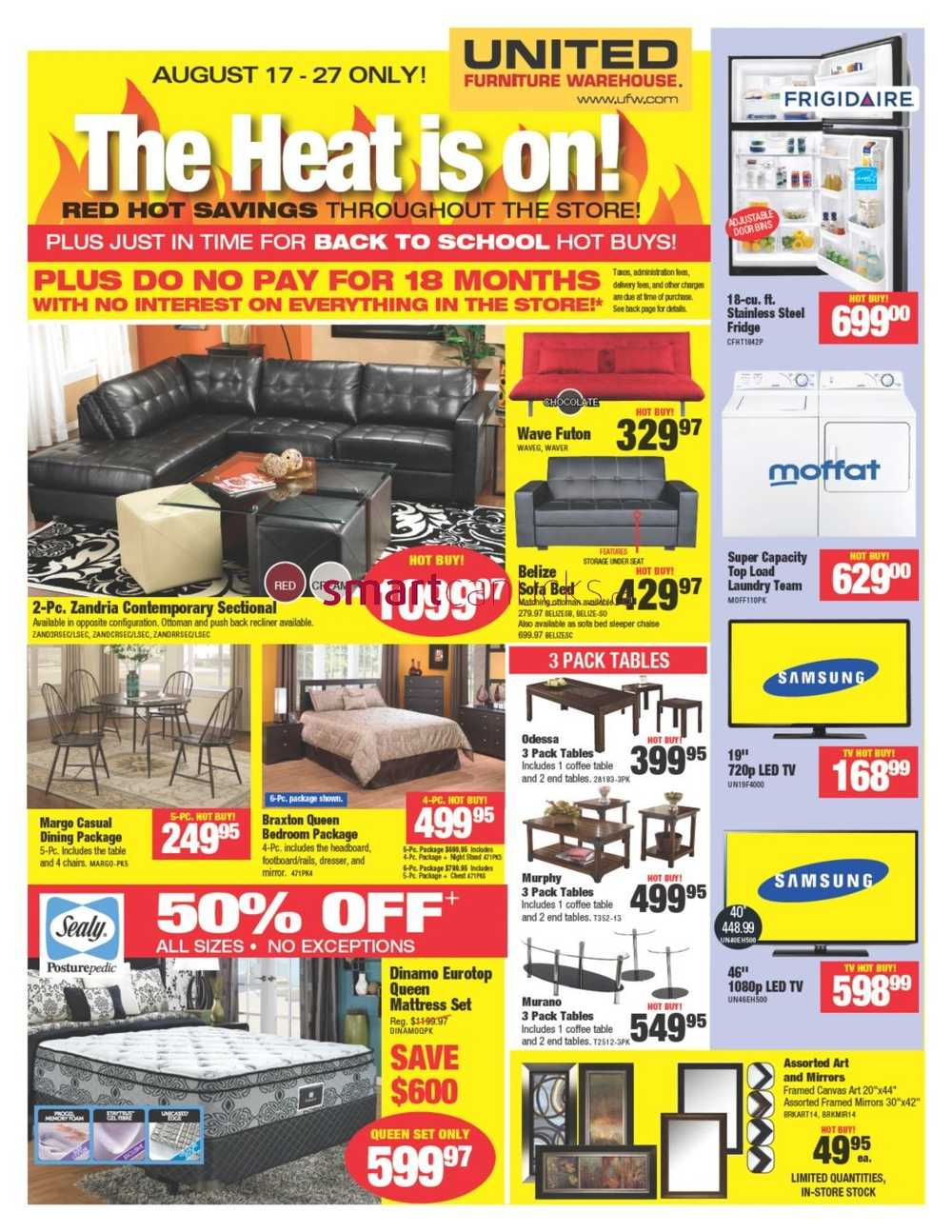 United Furniture Warehouse Flyer August 17 To 27