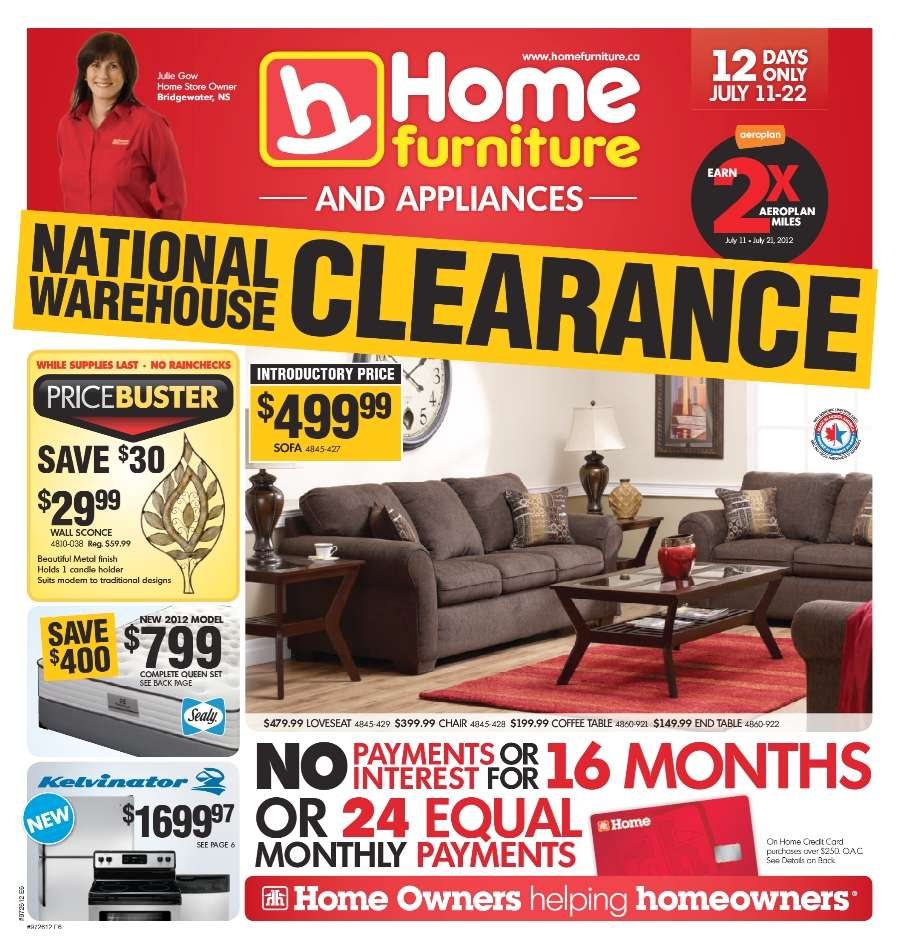 Sales Furniture: Home Furniture Flyer Jul 11 To 22