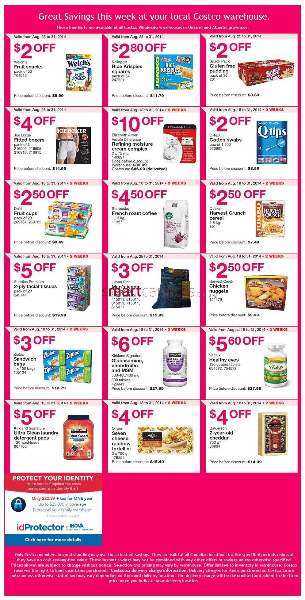 Costco weekly savings ontario and atlantic canada august 25 to 31