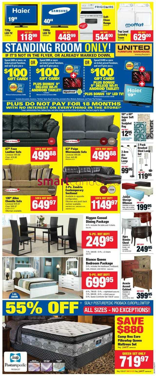 United furniture warehouse flyer september 16 to october 1 for I furniture warehouse