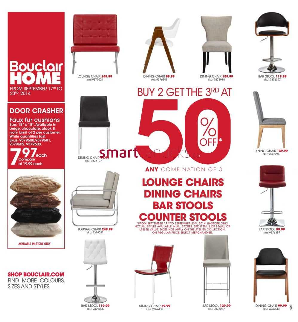 Terrific Bouclair Flyer September 17 To 23 Gmtry Best Dining Table And Chair Ideas Images Gmtryco