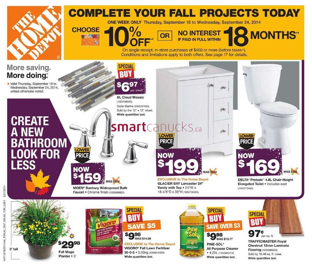 Home Depot Flyer 28 Images All Canadian Flyers Grocery